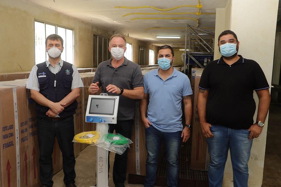 Governo do Estado adquire 230 respiradores pulmonares para expansão de leitos