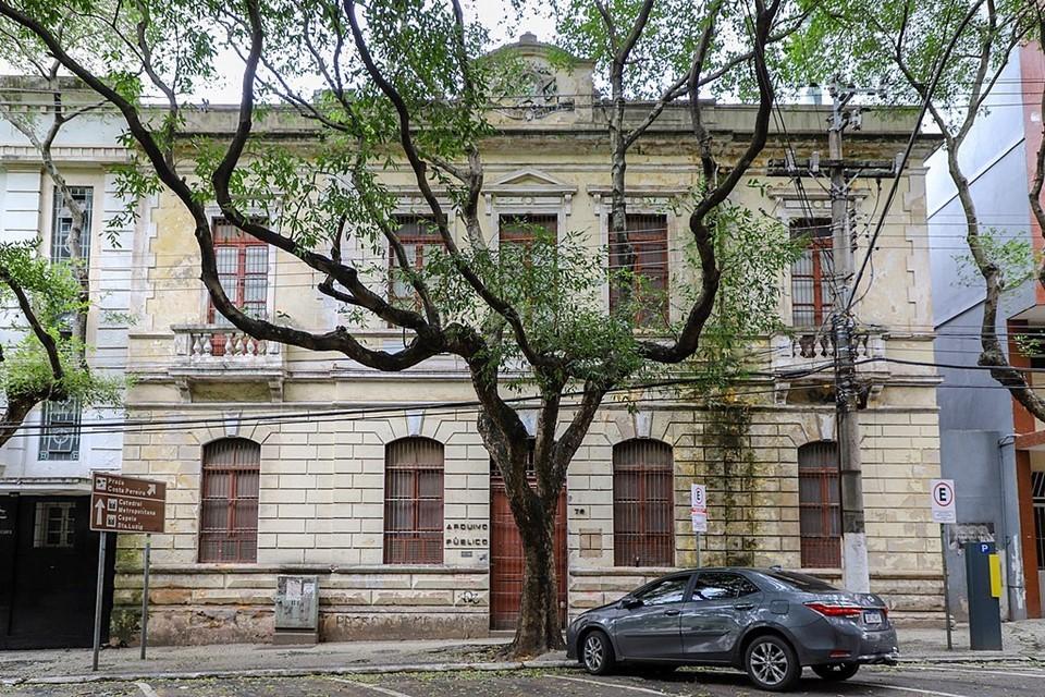 Prédio do antigo Arquivo Público será restaurado para abrigar Galeria Homero Massena