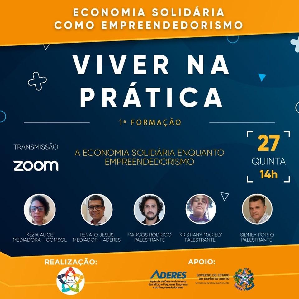 Aderes inicia Ciclo de Formação para Empreendedores da Economia Solidária