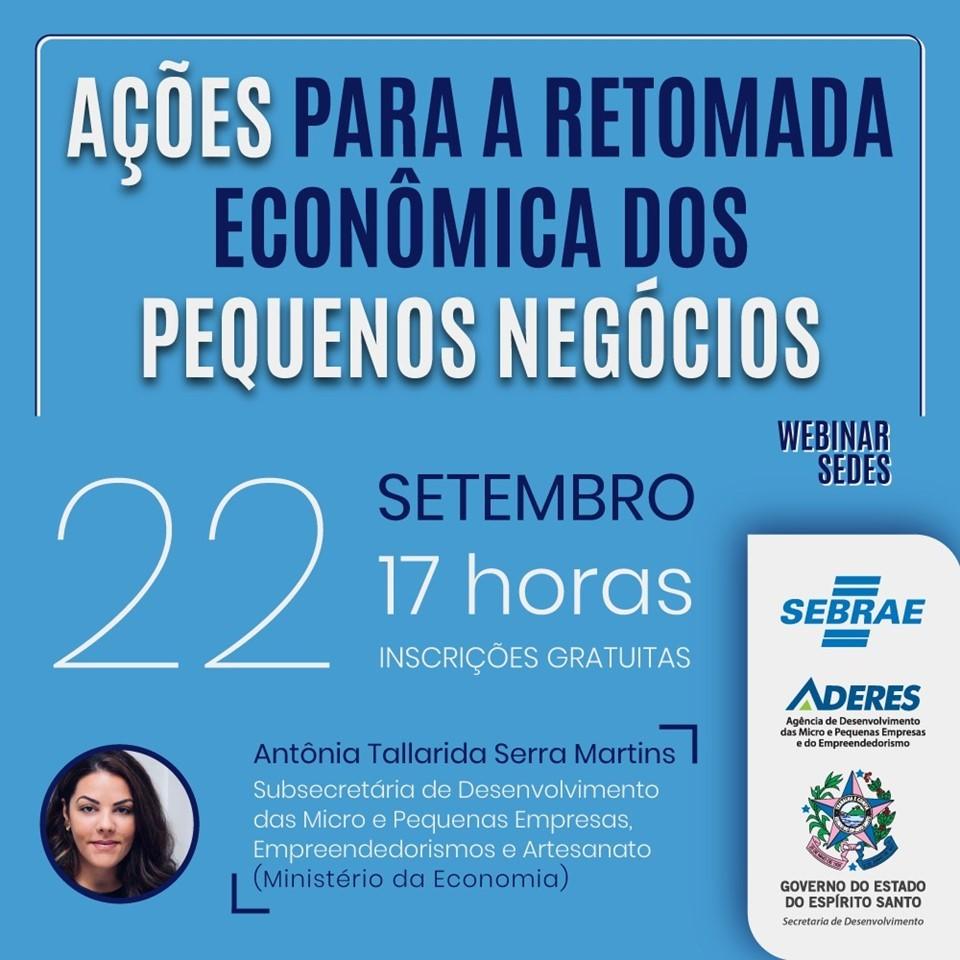 Continuam abertas inscrições para webinar sobre medidas econômicas em apoio às micro e pequenas empresas
