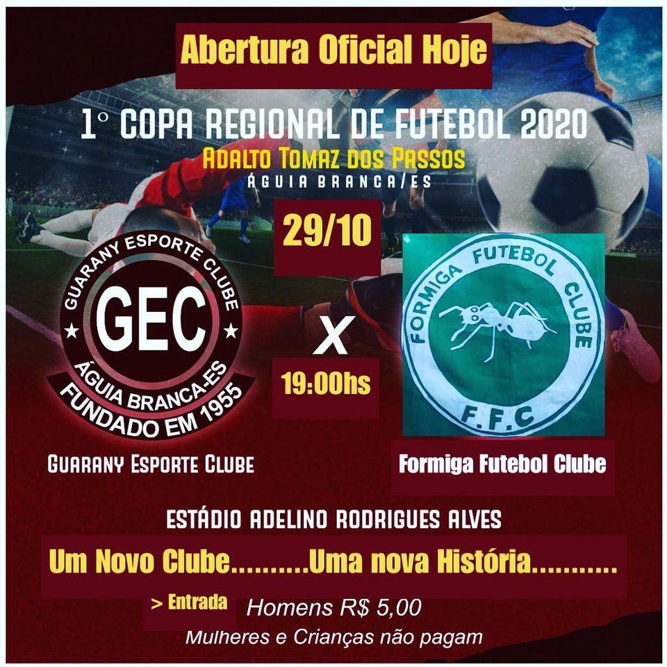 1ª Copa Regional: Cerimônia Oficial de Abertura será hoje (29)