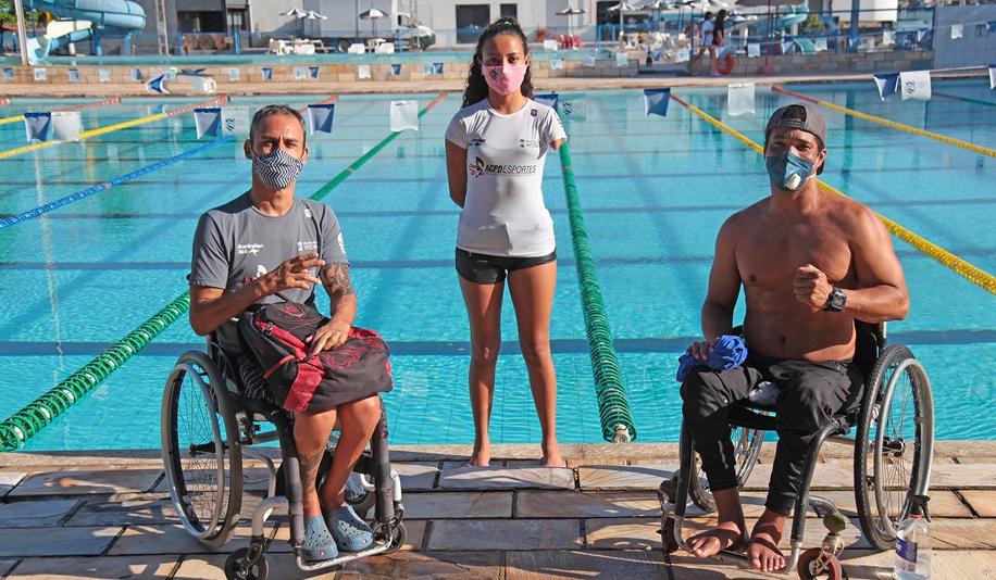 Paratletas capixabas retornaram aos treinos presenciais de natação nesta segunda-feira (14)