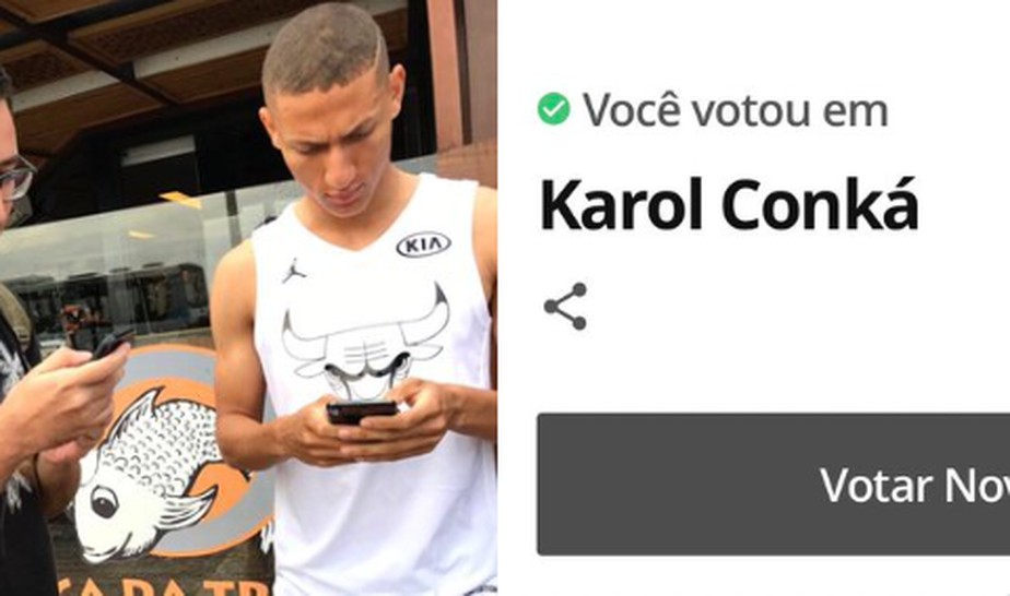 Richarlison promete camisa se eliminação de Karol Conká do BBB 21 ultrapassar 99% dos votos