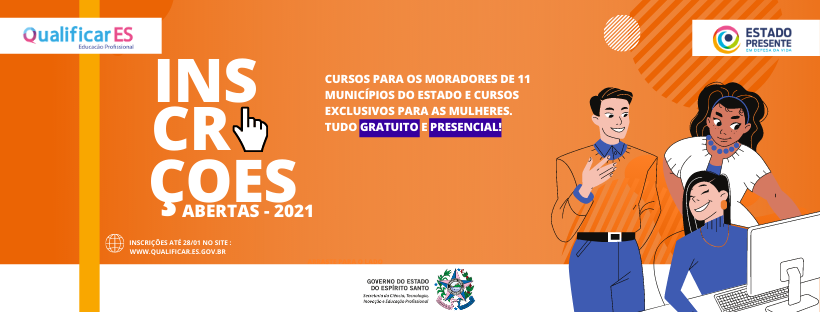 Qualificar ES abre 1ª oferta de vagas em 2021 com retorno de cursos presenciais