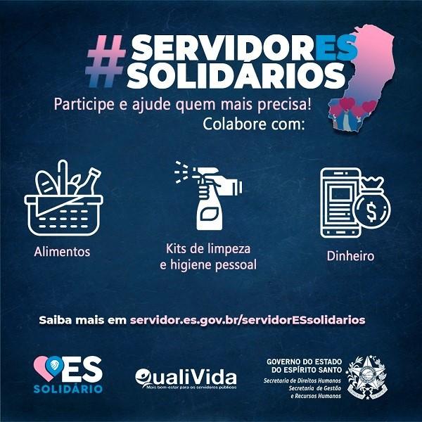 Governo do Estado lança campanha ServidorES Solidários