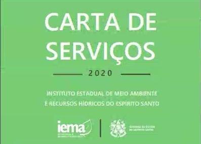 Carta de Serviços disponibiliza todos os serviços ofertados pelo Iema