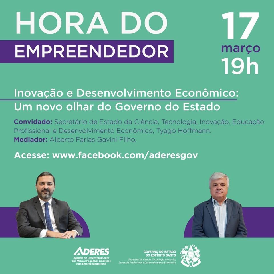 Inovação e Desenvolvimento econômico é tema de webconferência da Aderes