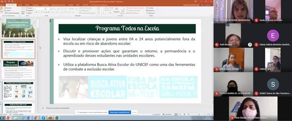 Seminário dá continuidade à reflexão sobre Busca Ativa Escolar junto aos municípios do Espírito Santo