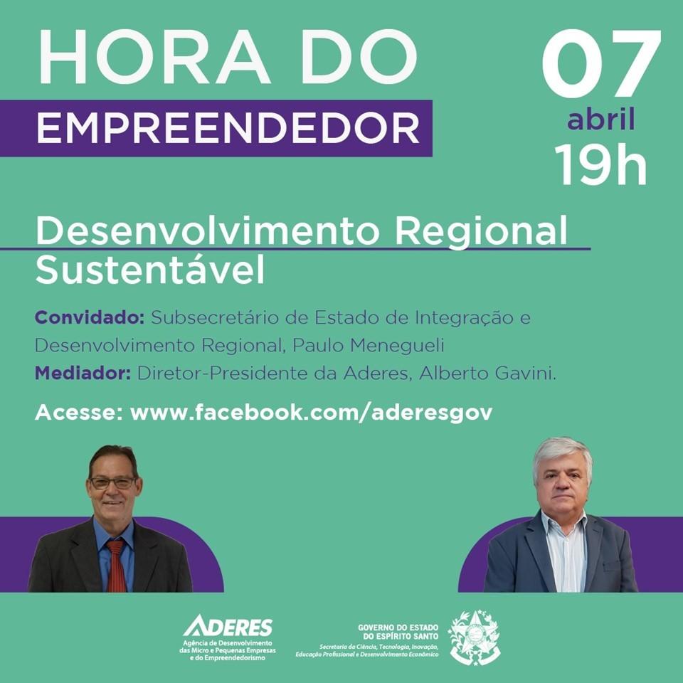 Hora do Empreendedor vai falar sobre Desenvolvimento Regional Sustentável