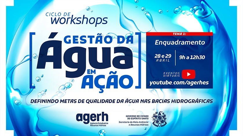 Confira a programação do workshop virtual da Agerh sobre Enquadramento