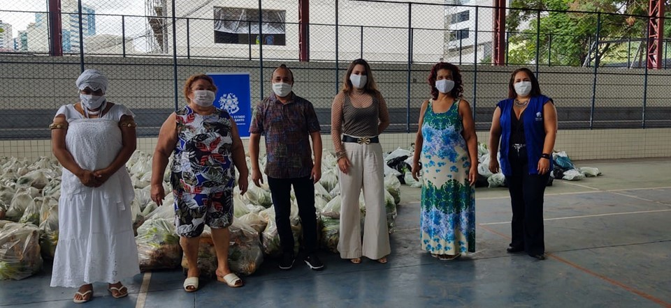 ES Solidário entrega mais de 700 cestas verdes a instituições capixabas