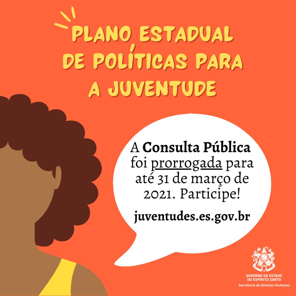 Consulta Pública para elaborar Plano Estadual de Políticas para as Juventudes tem prazo prorrogado para 31 de março
