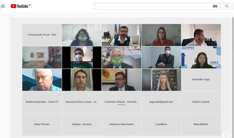 Secretário de Estado da Saúde faz prestação de contas à Ales em reunião on-line