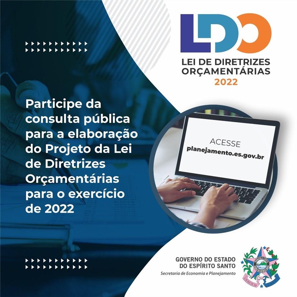 Consulta pública para elaboração de projeto da LDO 2022 termina nesta sexta-feira (16)