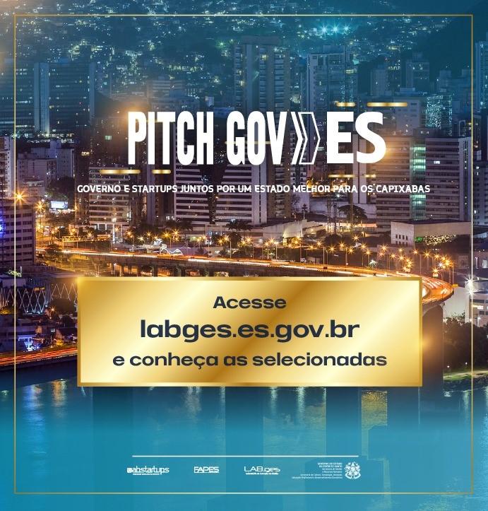 Governo do Estado anuncia as startups vencedoras do Programa Pitch Gov.ES