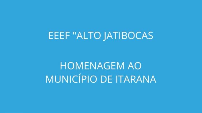 Escola de Itarana realiza atividades sobre história e cultura do município