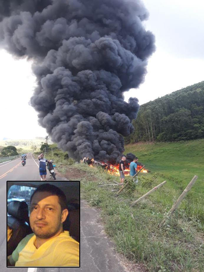 Motorista morre após carreta com combustível tombar em rodovia