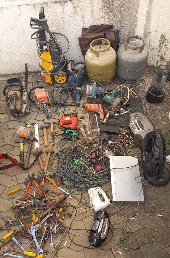 Materiais roubados em São Domingos são encontrados pela Polícia