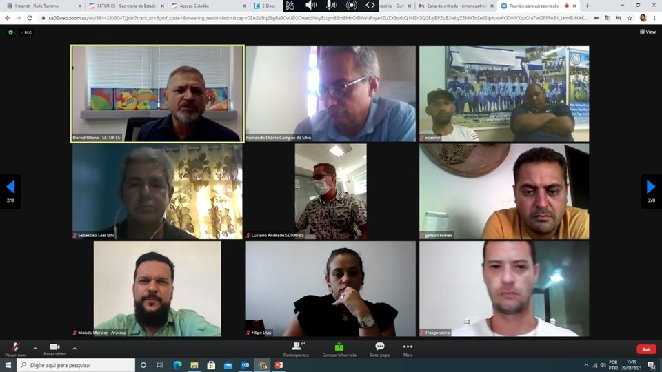 I Encontro Virtual de Secretários e Dirigentes de Turismo reuniu Secretarias Municipais de Turismo