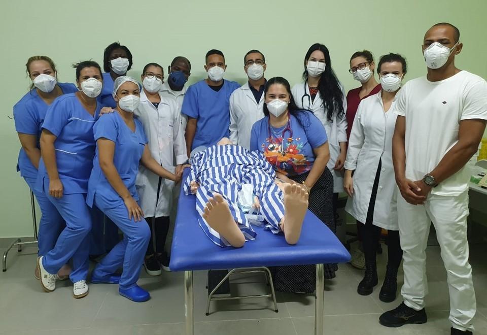 Sesa realiza treinamento de sedação e intubação orotraqueal