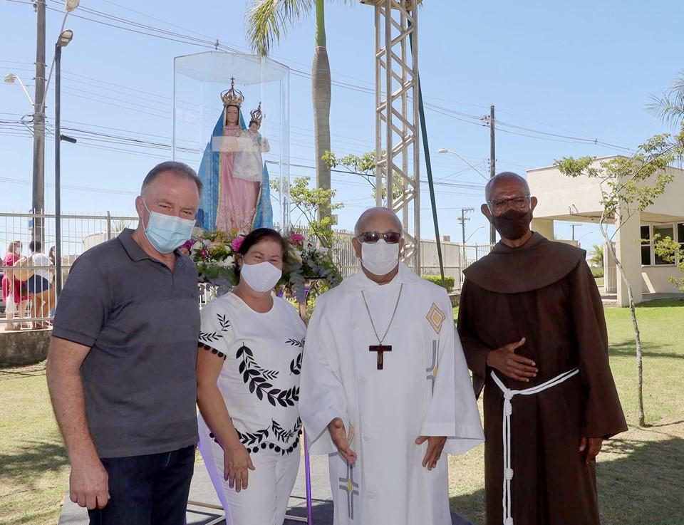 Governador acompanha visita da imagem de Nossa Senhora da Penha ao Hospital Dr. Jayme