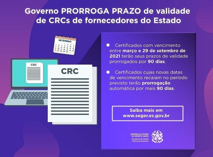 Governo prorroga prazo de validade dos certificados apresentados por fornecedores do Estado