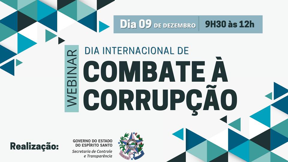 Inscrições abertas para webinar que vai debater ações de transparência, controle e combate à corrupção