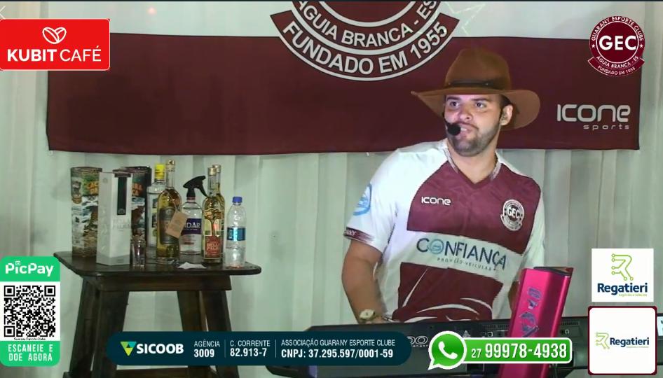 """Guarany arrecada R$14 mil com """"live"""""""