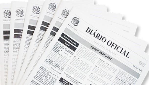 Diário Oficial informa os novos padrões para as publicações oficiais