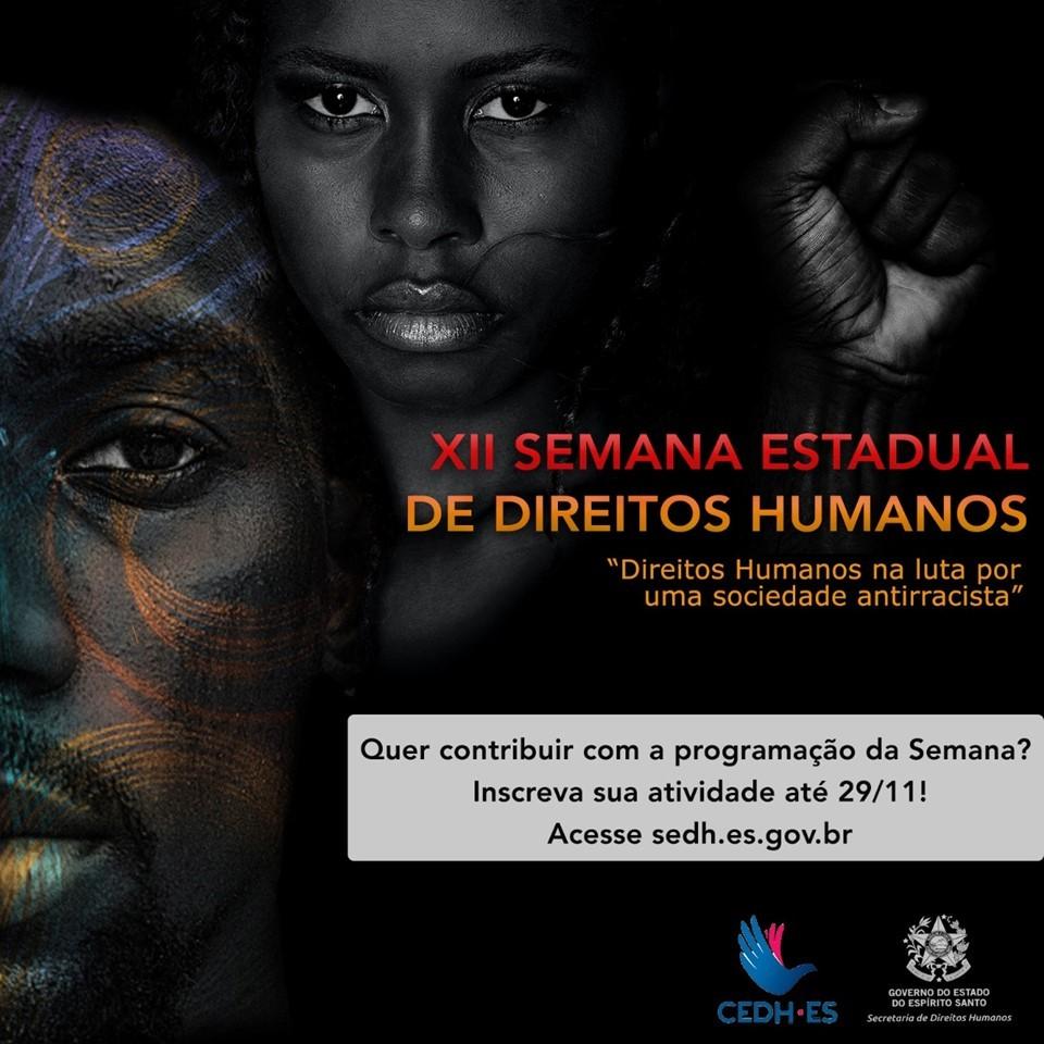 SEDH abre inscrições para contribuição nas atividades da XII Semana de Direitos Humanos