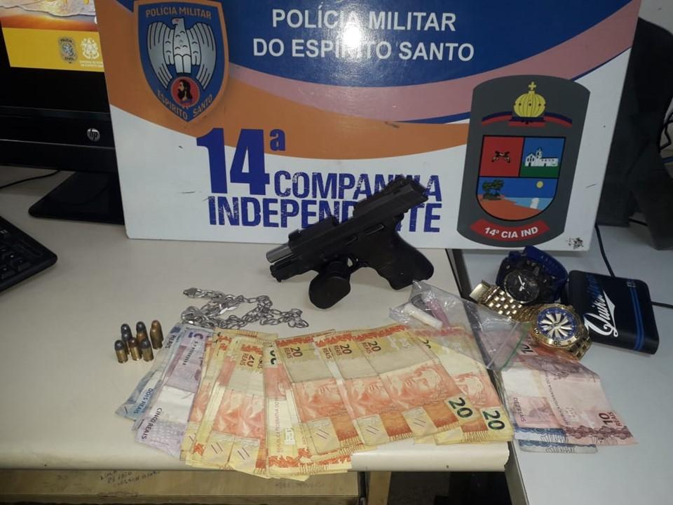 14ª CIA IND apreende pistola em operação de desarticulação de Baile Mandela