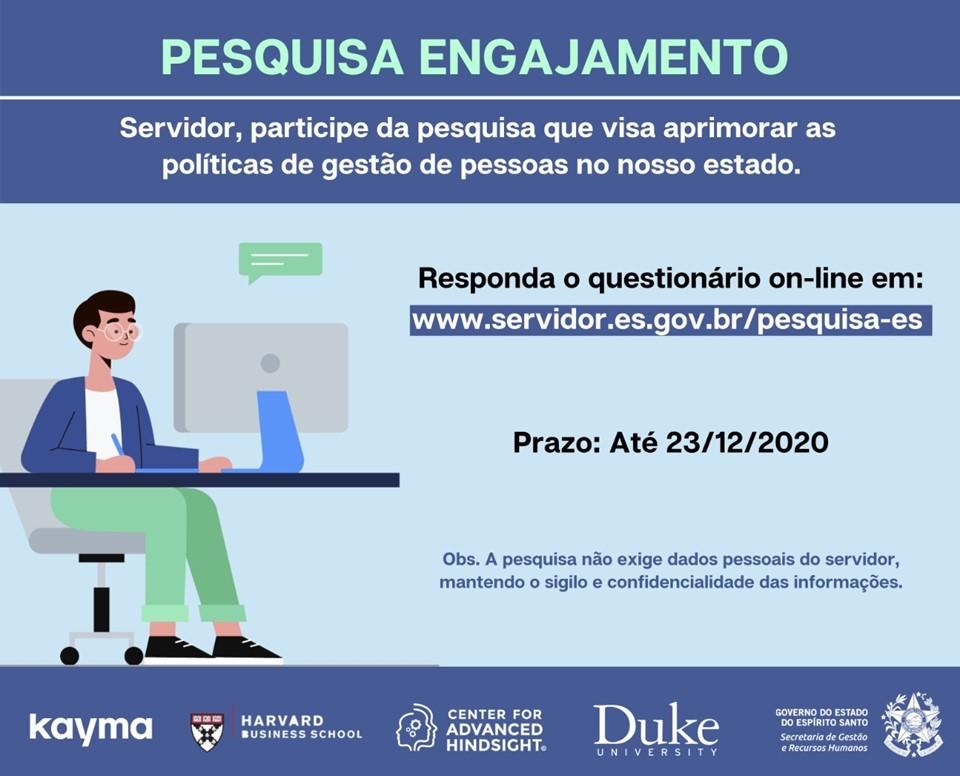 Governo do Estado lança pesquisa para servidores públicos em parceria com a Duke University