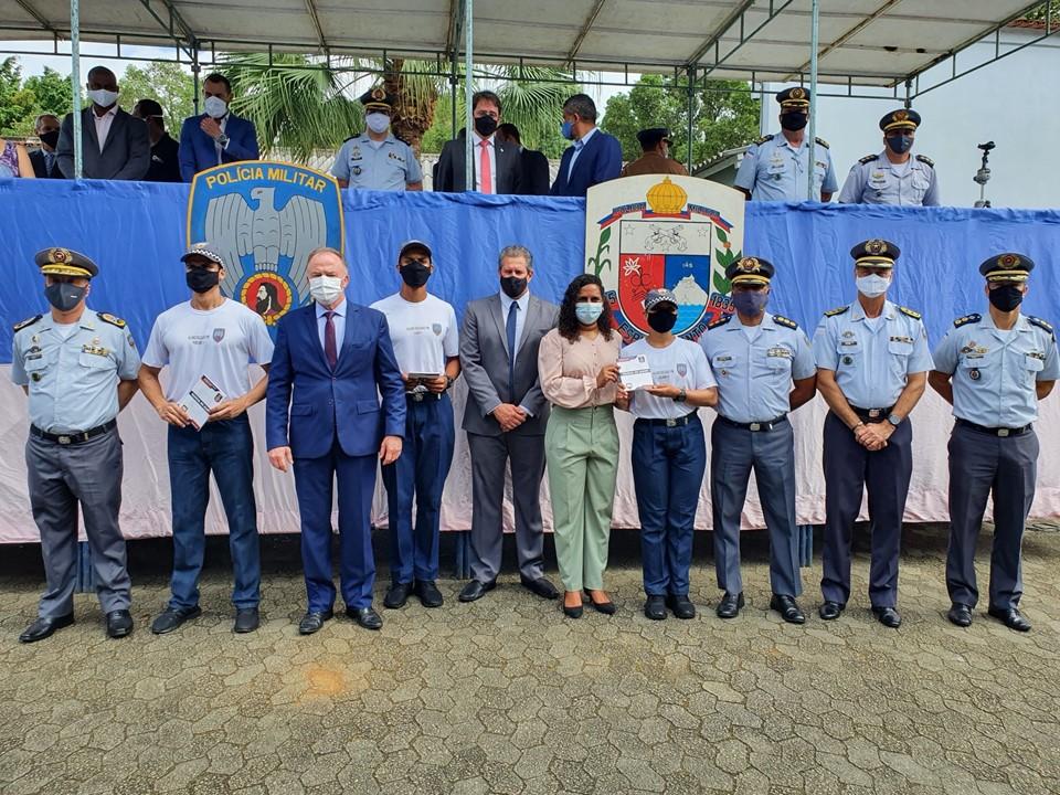 Governo realiza solenidade de início dos cursos de formação de soldados, oficiais e médicos da PMES