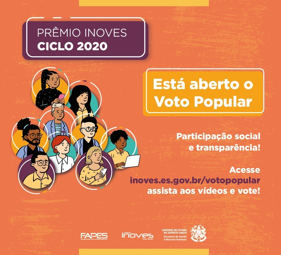 Inoves: cidadão pode escolher o projeto que mais se destaca na categoria Voto Popular