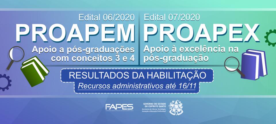 Fapes divulga habilitação dos editais de apoio a programas de pós-graduação