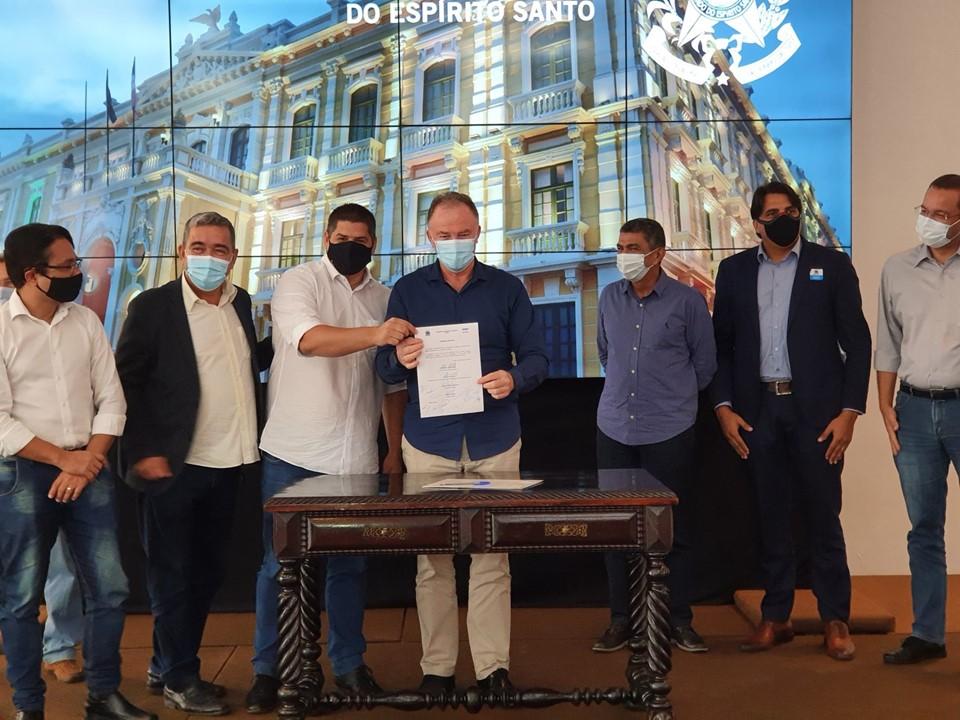Governo autoriza início das obras de ampliação da ETE Manguinhos, na Serra