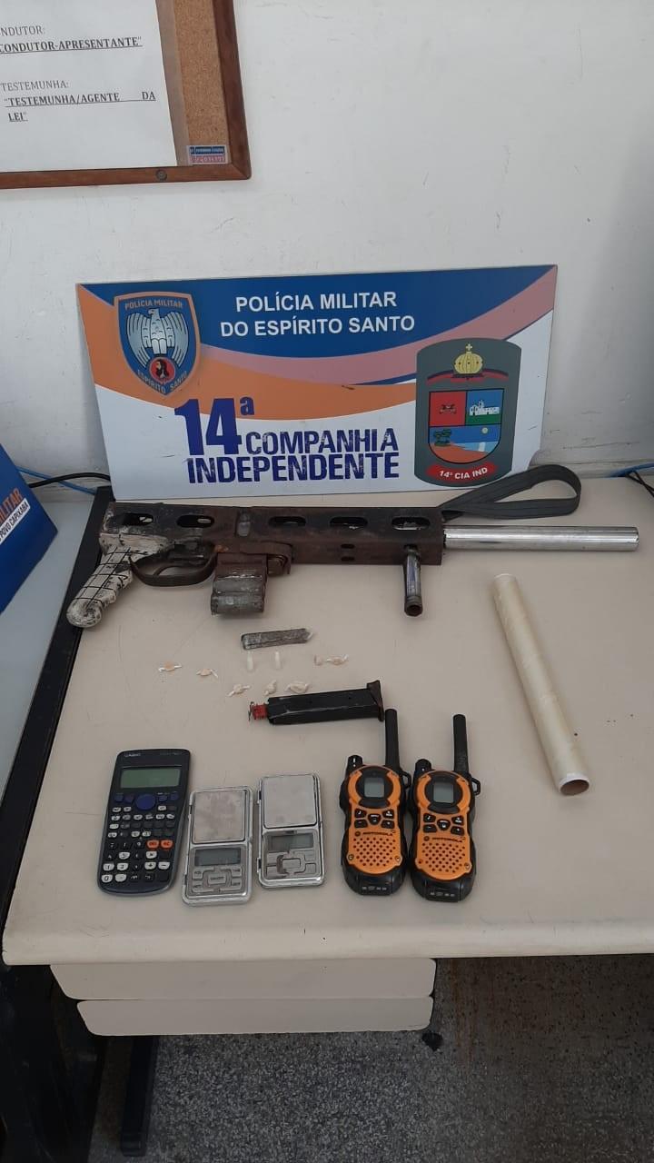 14ª Cia Ind apreende arma longa e rádios comunicadores em Vila Nova de Colares