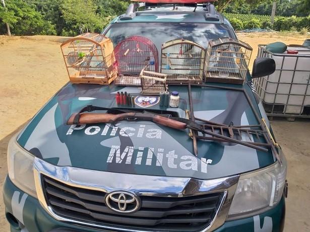 BPMA apreende arma e animais silvestres em São Mateus