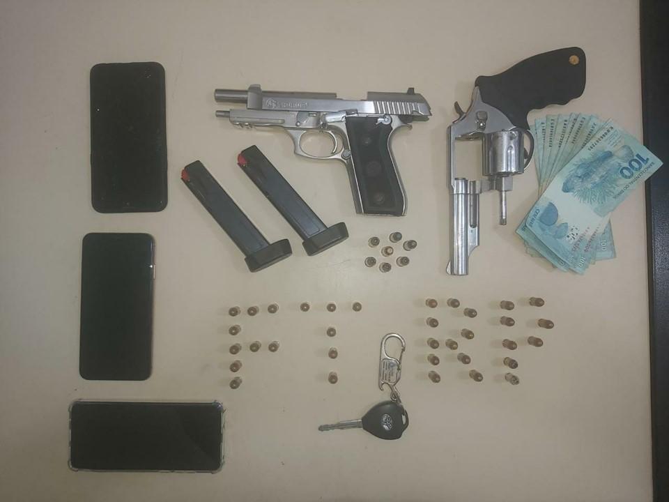 Polícia Militar prende três suspeitos armados no Centro de Nova Venécia