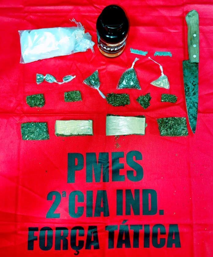 Polícia Militar prende casal com drogas em Afonso Cláudio