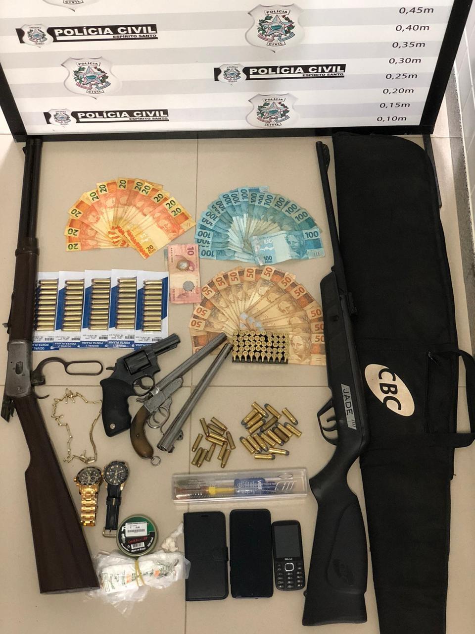 Polícia Civil realiza operação de combate ao comércio de armas e munições e ao tráfico de drogas em Jaguaré