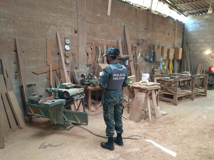 BPMA participa de Operação Sucupira e apreende armas, documentos e dispositivos eletrônicos.