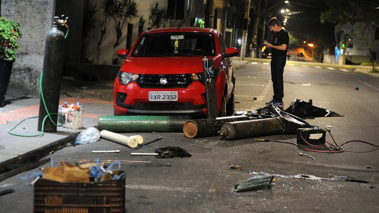 Criciúma (SC) tem madrugada de violência com assalto a banco