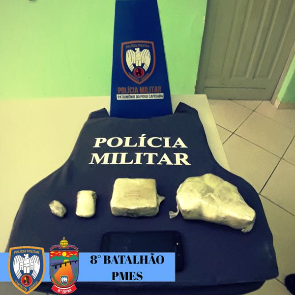 Polícia Militar apreende maconha em Pancas