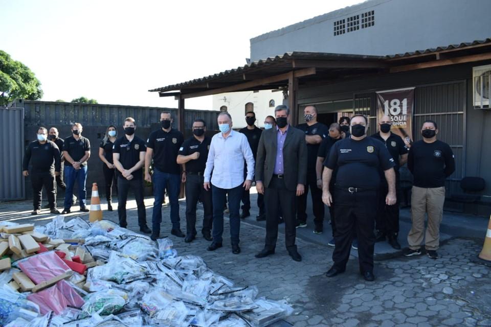 Polícia Civil encaminha mais de uma tonelada de drogas para incineração