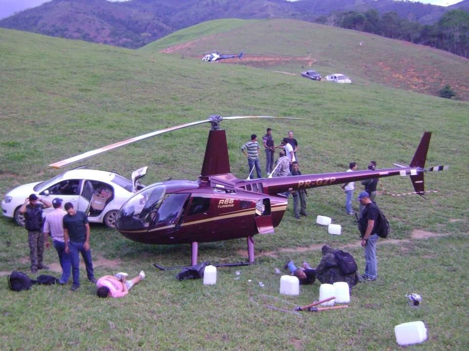 PF cumpre mandados do caso dos 445 kg de droga encontrados em helicóptero no interior do ES