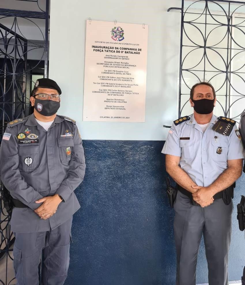 8º Batalhão inaugura nova sede da Companhia de Força Tática