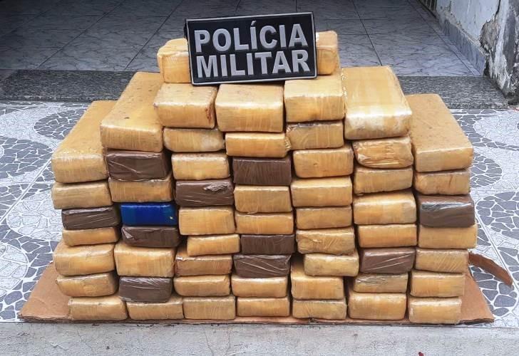 Polícia Militar apreende 50 quilos de maconha em São Mateus
