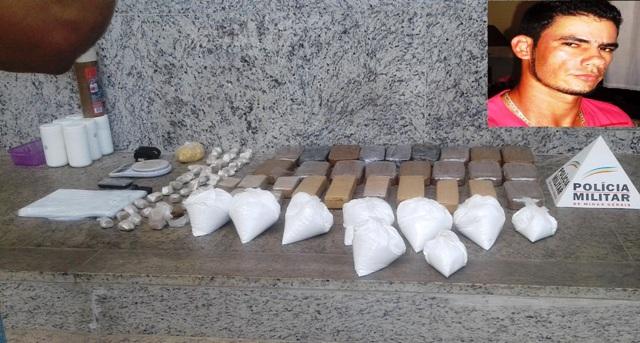 Assassinato em Barra de São Francisco leva polícia de Mantena a apreensão de muita droga