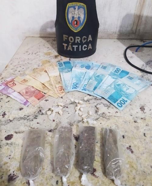 Jovem é detido com drogas pela PM em Nova Venécia
